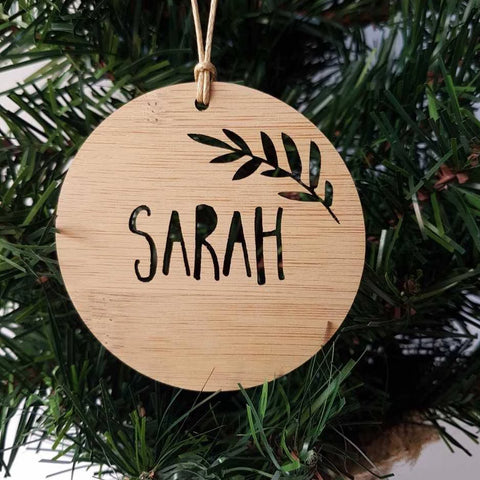 Personalised  Christmas Decoration-FERN DESIGN - Little Birdy Finds