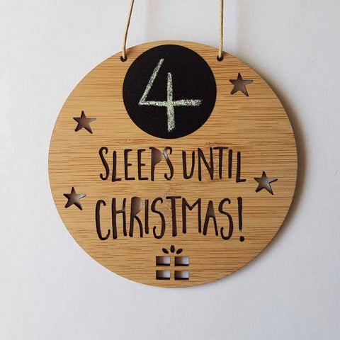 Sleeps until Christmas Countdown - Little Birdy Finds