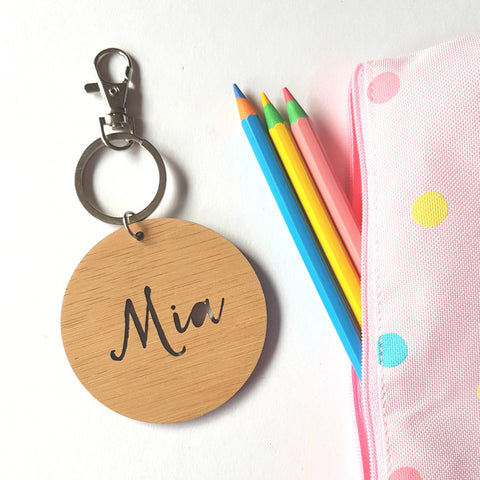 Bag Tag / Keyring Mia Script Font - Little Birdy Finds