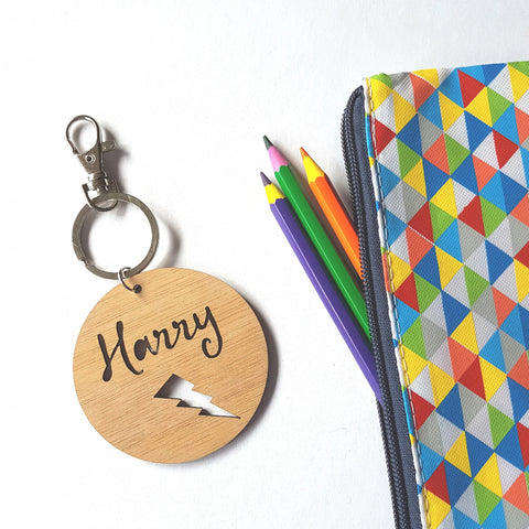 Bag Tag / Keyring Lightning Bolt - Little Birdy Finds