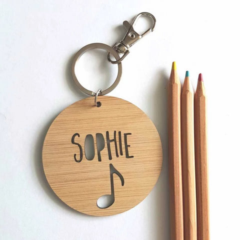 Music Note Bag Tag / Keyring - Little Birdy Finds