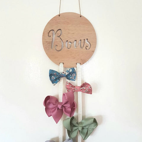 Wooden Bow-Hairclip holder - Little Birdy Finds