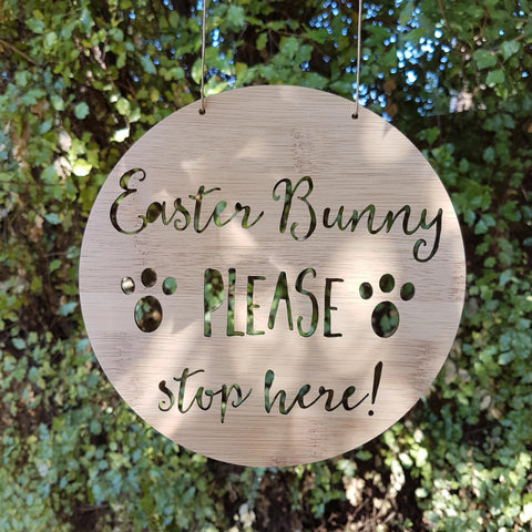 Easter Bunny Please Stop Here! - Little Birdy Finds