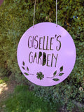 Personalised Fairy Garden Sign - FLOWER DESIGN - Little Birdy Finds