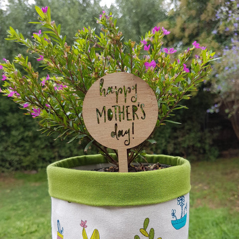 Happy Mothers Day plant marker - Little Birdy Finds