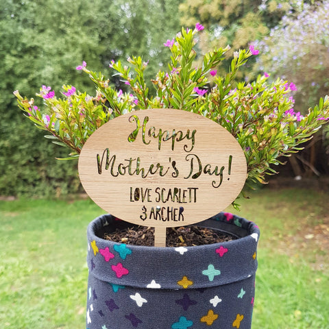 Personalised Mothers Day plant marker - Little Birdy Finds