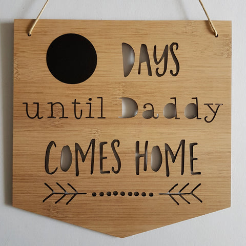 Days until Daddy Comes Home Countdown - Little Birdy Finds