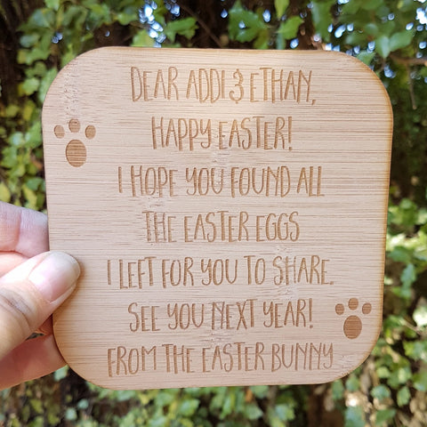 Personalised letter from the Easter Bunny - Little Birdy Finds