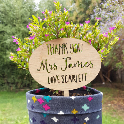 Personalised Plant Marker - Little Birdy Finds