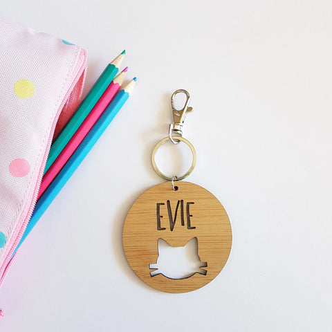 CAT Bag Tag / Keyring - Little Birdy Finds