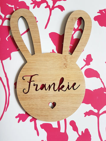 RABBIT Personalised Wall Hanging - Little Birdy Finds