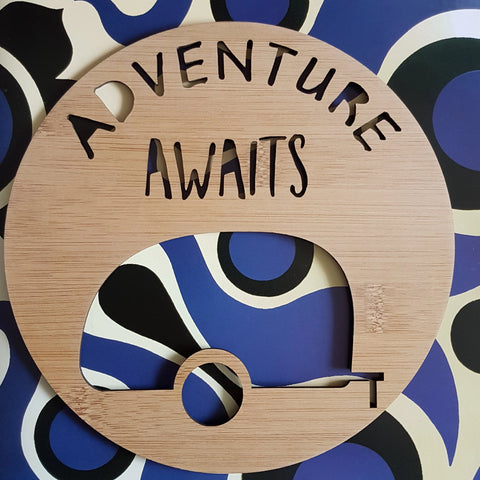 Adventure Awaits RETRO Caravan Wall Hanging - Little Birdy Finds