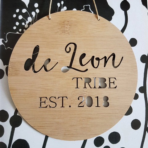 Personalised Family Name TRIBE Wall Hanging - Little Birdy Finds