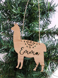 LLAMA ALPACA Personalised Christmas Decoration - Little Birdy Finds