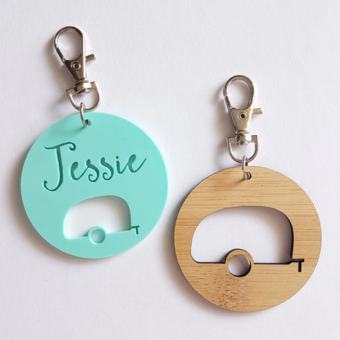 Personalised Caravan Keyring - Little Birdy Finds