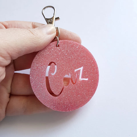 Personalised GLITTER Bag Tag - Little Birdy Finds