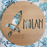 ROCKET Personalised Wall Hanging - Little Birdy Finds