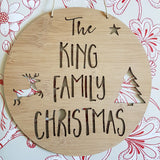 Family Christmas Wall Hanging - Little Birdy Finds