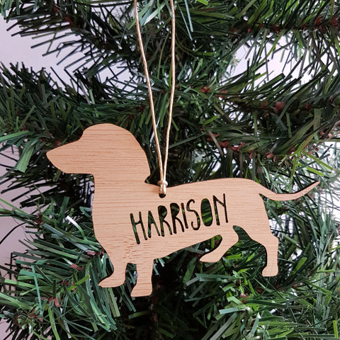 DACHSHUND Personalised  Christmas Decoration - Little Birdy Finds