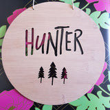 Personalised Wooden Wall Hanging - Trees - Little Birdy Finds