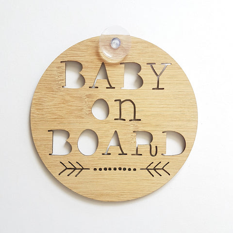 Baby On Board sign DOTS and ARROW - Little Birdy Finds