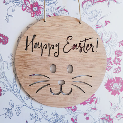 Happy Easter Bamboo Wall Hanging - Little Birdy Finds
