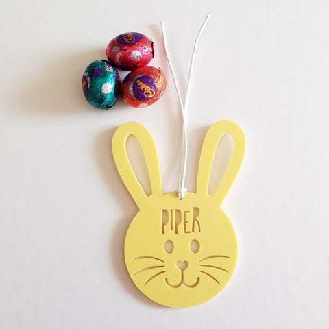 PERSONALISED Easter bunny tag 2 - Little Birdy Finds