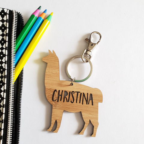 LLAMA-ALPACA Bag Tag / Keyring - Little Birdy Finds