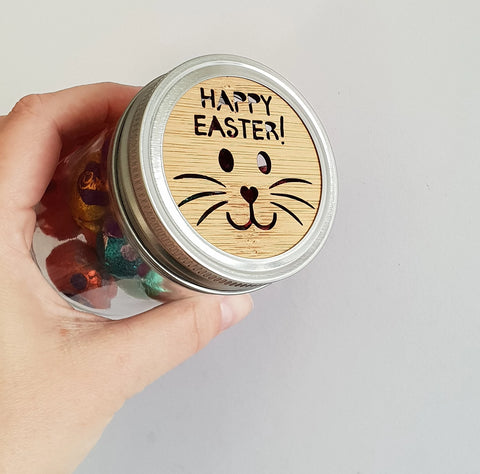 Happy Easter Jar - Little Birdy Finds