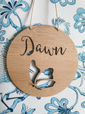 Personalised Wooden Wall  Hanging BUTTERFLY - Little Birdy Finds