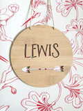 Personalised Wooden Wall Hanging - Arrow - Little Birdy Finds