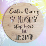 Personalised  Easter Bunny Please Stop Here! - Little Birdy Finds