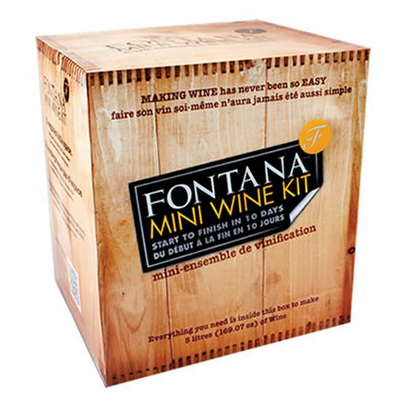 Fontana Mini Wine Kit Shiraz Style-1.1 lt Mini Wine