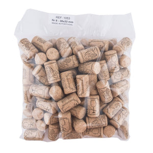Agglomerated Cork - 38x22 #8 Short - 100PACK