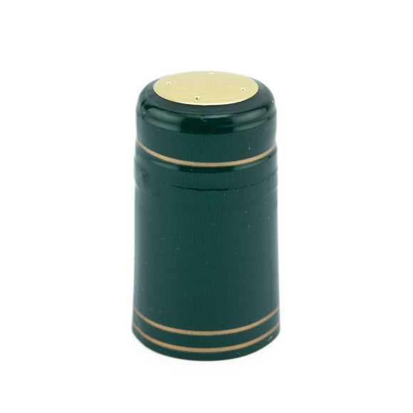 Shrink Cap - Solid Green/Gold Stripe