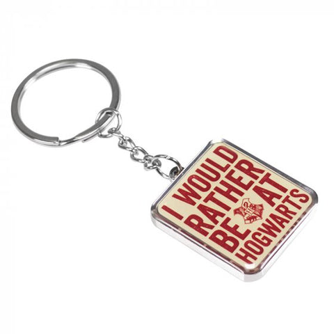 I would rather be at Hogwarts keyring