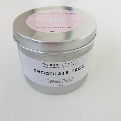 Chocolate Frog - Hand poured Soy Candle, Made In Scotland