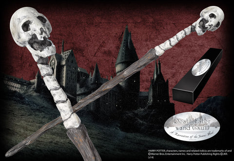 Death Eater Character Wand - Skull