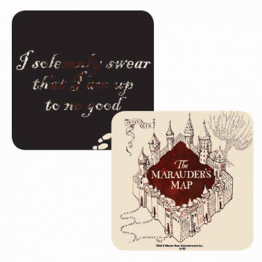 Marauders map Lenticular Coaster