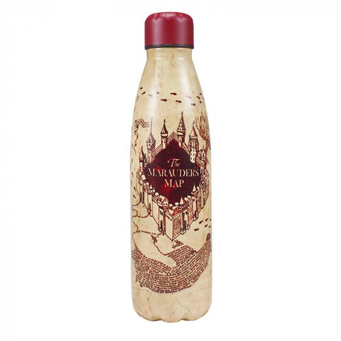Marauders map metal water bottle