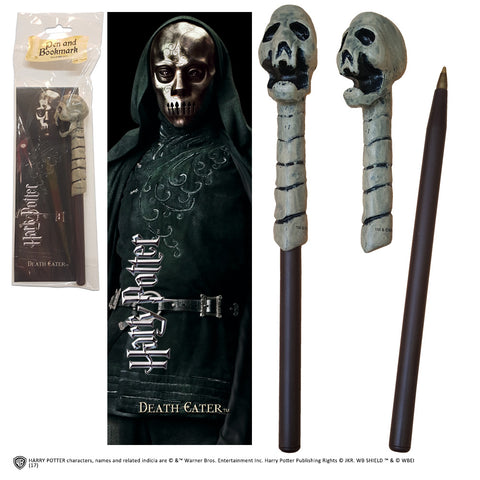 Death Eater (skull) wand pen and bookmark