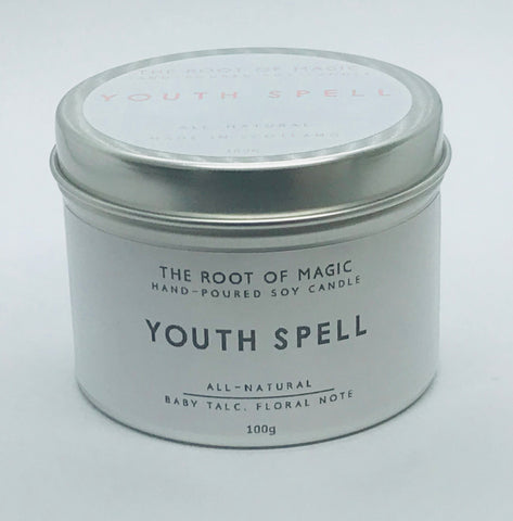 Youth Spell - Hand poured Soy Candle, Made In Scotland