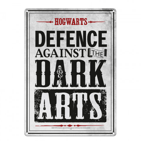 Defence against the dark arts small tin sign