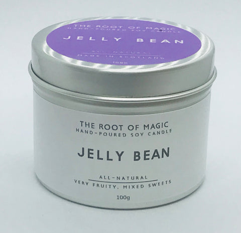 Jelly Bean- Hand poured Soy Candle, Made In Scotland