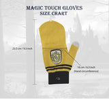 Hufflepuff fingerless tech touch gloves