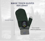 slytherin fingerless tech touch gloves