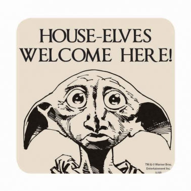 House-Elves welcome here Coaster