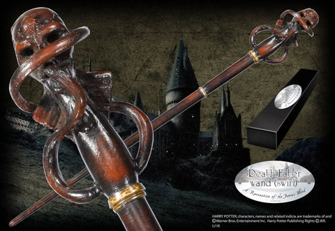 Death Eater Character Wand - Skull swirl