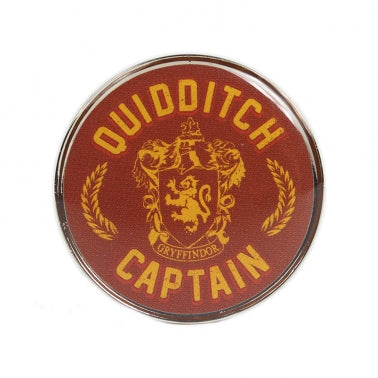 Gryffindor Quidditch captain Pin Badge round
