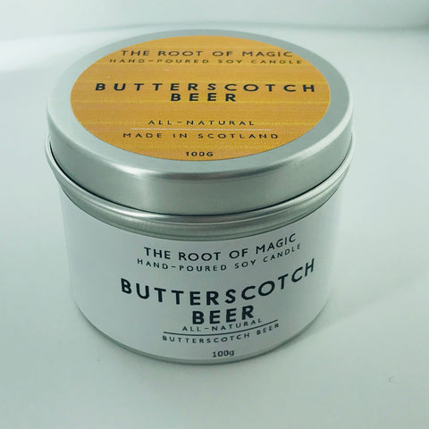 Butterscotch Beer - Hand poured Soy Candle, Made In Scotland